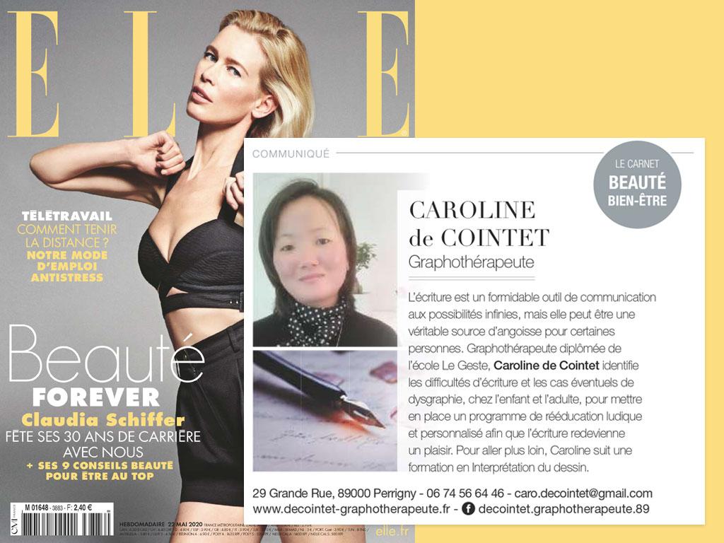Caroline de Cointet, magazine ELLE